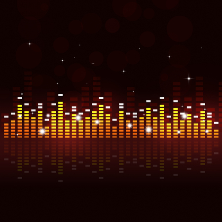 dj: abstract multicolor music equalizer background for active parties Stock Photo