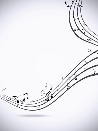 abstract music notes minimal black and white background