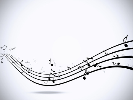 minimalism: abstract music notes minimal black and white background