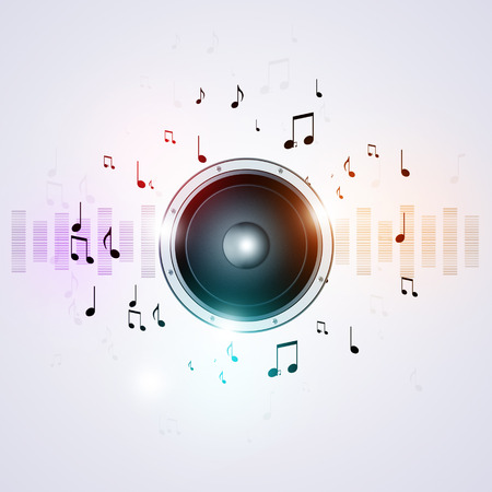 discotheque: sound speaker and equalizer music background for active party events