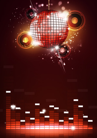 Resumen de música de fiesta de discoteca para los aviadores y los carteles del club nocturno Foto de archivo - 39982829