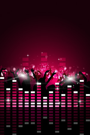 nightclub crowd: party music background for flyers and nightclub events