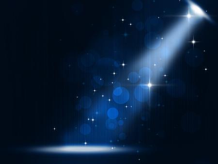 concierto proyector de la etapa de fondo música de fiesta en el fondo azul Foto de archivo