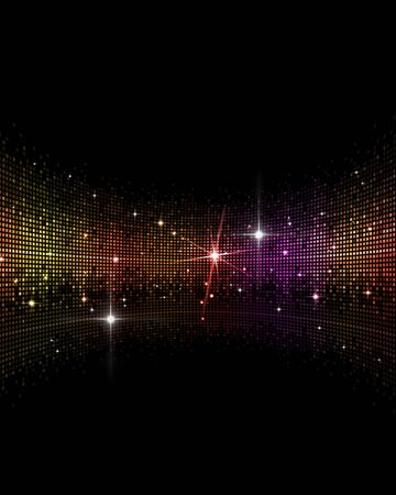 abstract multicolor music disco party events background Stockfoto
