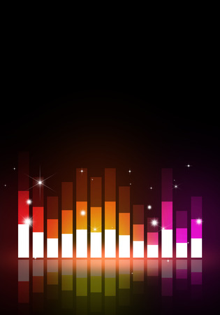 discotheque: multicolor music equalizer background for joyful party events