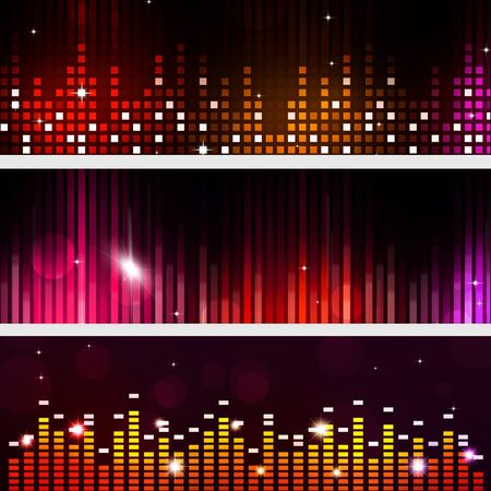 nightclub flyer: disco party music banners for flyers and club posters