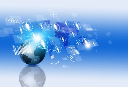 background information: network concept globa webl connections technology background