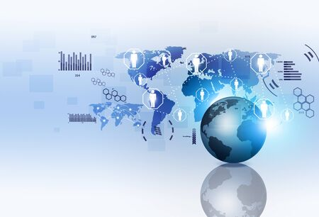 computer services: network concept global web connections technology background