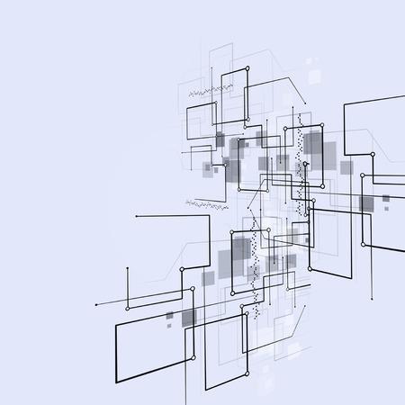 tecnología informatica: tecnologías de conexión abstractos fondo brillante negocio