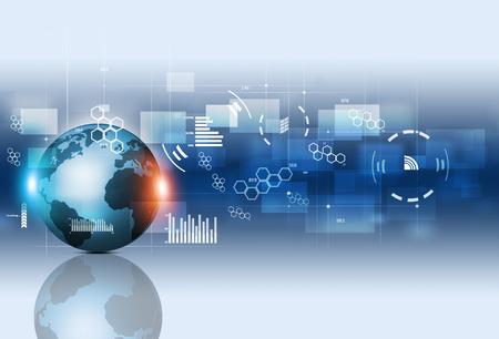 abstrakcyjne połączenia technologii i komunikacji biznesowej tle Zdjęcie Seryjne