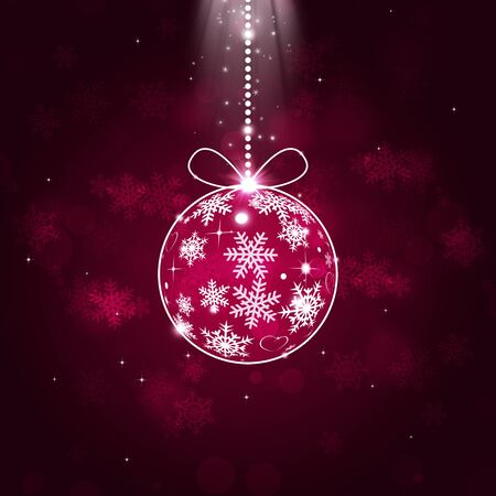 blinking: abstract christmas holiday balls on red background