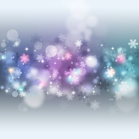 blurry lights: winter holiday bright multicolor christmas background with blurry lights and stars