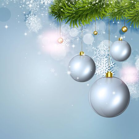 blinking: winter holiday snow background for christmas and new year cards