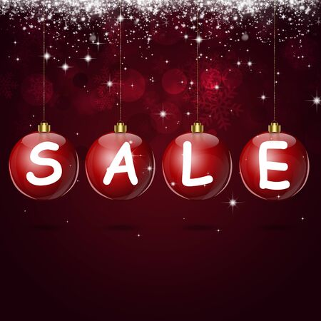 blinking: winter holiday sale background for christmas and new year cards