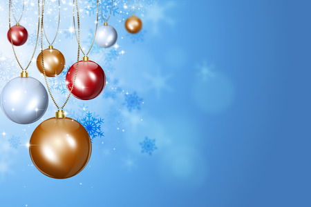 blinking: bright abstract christmas celebration holiday balls greeting background