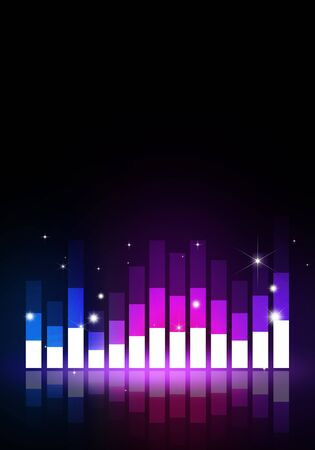multicolor music equalizer background for joyful party events