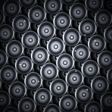 nightclub flyer: abstract music sound speakers on dark grey background