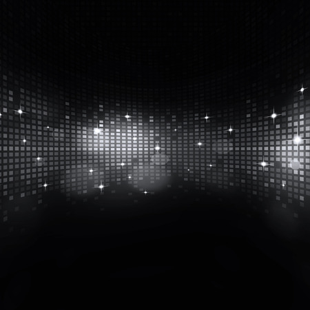 nightclub flyer: abstract digital equalizer dark music background for active parties Stock Photo