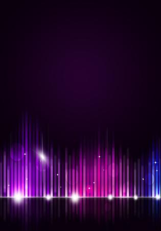 soirée disco fond de musique pour des dépliants et des affiches de boîte de nuit