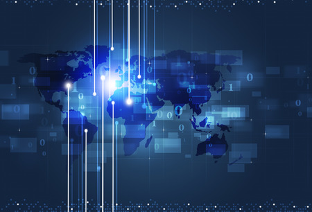 global communication: communication technology global concept blue business background