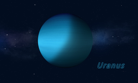 imaginary: imaginary space illustration of gas giant uranus
