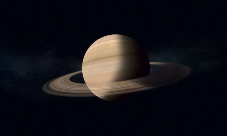 imaginary: imaginary space illustration of a gas giant Saturn