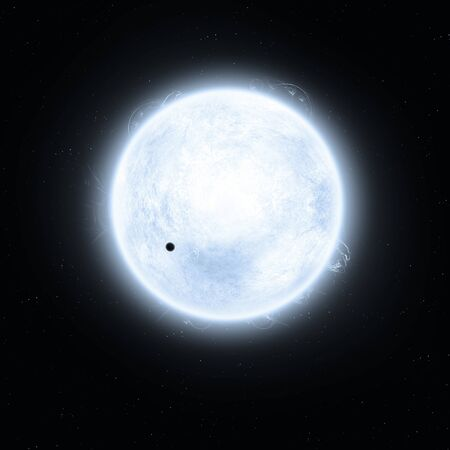 imaginary: imaginary solar blue super giant star in space
