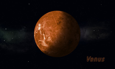 imaginary: imaginary illustration of solar sustem planet Venus