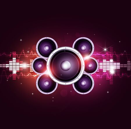 bright music multicolor background for party events