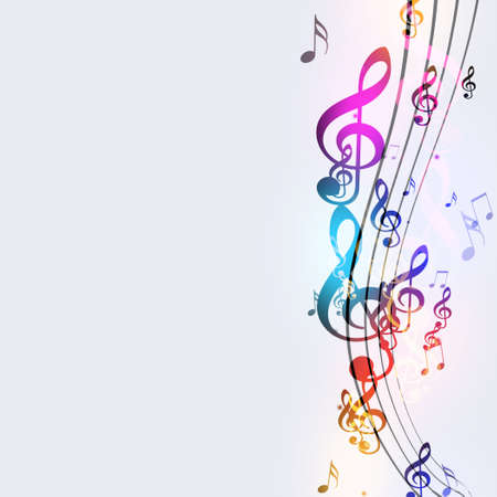 funky music: abstract bright background with funky music notes