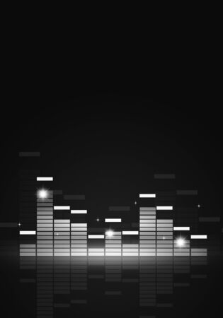 black and white music equalizer poster for joyful party events