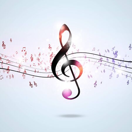 funky music: abstract funky music notes for flyers and posters