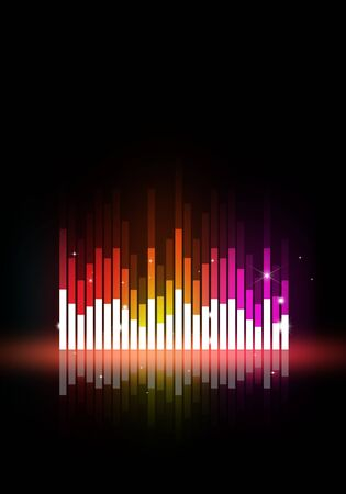 discotheque: abstract multicolor music equalizer background for party events Stock Photo