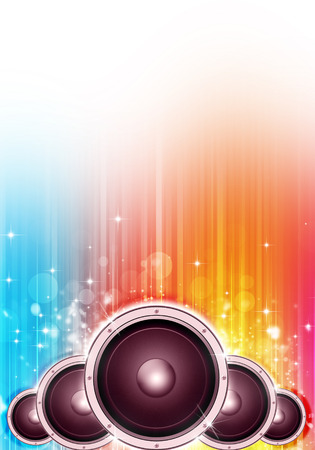 discotheque: multicolor party music background for flyers and posters Stock Photo
