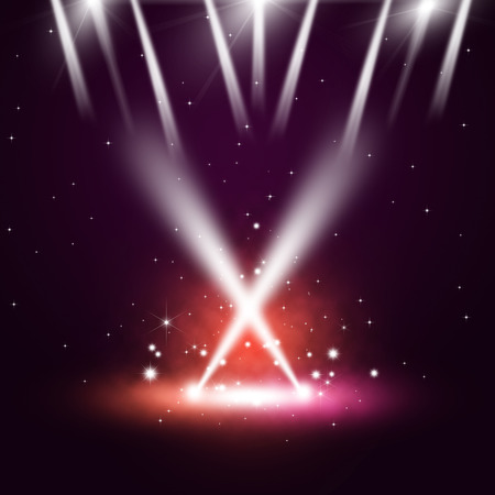 discoteque: music concert background with multicolor spotlights on the stage Stock Photo