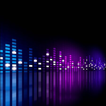 multicolor music equalizer background for active events Stock Photo