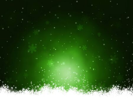 blurry lights: abstract christmas snow green background with blurry lights