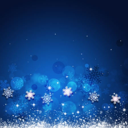 winter holiday blue background for christmas and new year cards