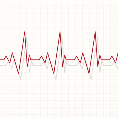 heart pulsating rhythm graph abstract red illustration