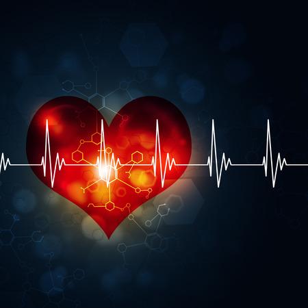 heart pulsating rhythm graph
