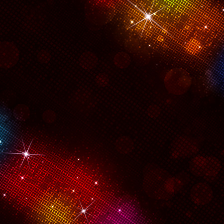 digital multicolor funky music disco lights background Imagens