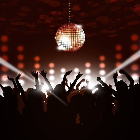 spotlight: disco party music background for active crowd events