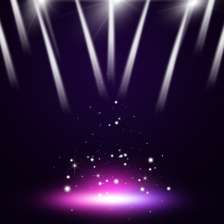 music: music concert multicolor background with stage spotlights