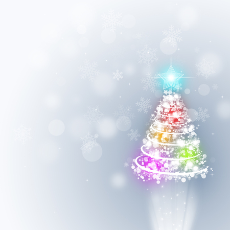abstract christmas holiday tree on bright background