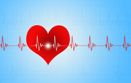 medical illustration of big red heart beating