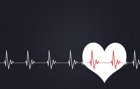 abstract medicine illustration of heart pulsating rhythm