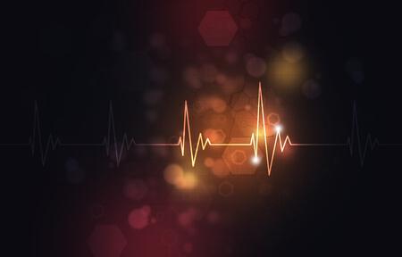 abstract medical illustration of heart pulsating rhythm Stock Photo