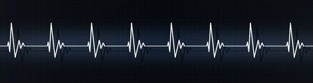 medical banner illustrating. normal heart rateon ecg