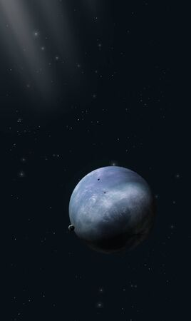 3d illustration of a imaginary planet in space