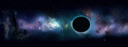 3d illustration. imaginary space black hole and star field in the universe Reklamní fotografie